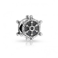 Sterling Silver Vintage Antique Ships Wheel Charm Pandora Compatible
