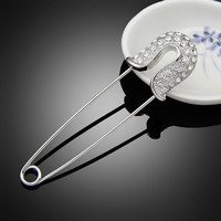 NEW Hijab Pins Safety Pin Brooch Jewelry Fashion Luxury crystal  girl  Brooches For women Scarves Corsage Sweater Collar