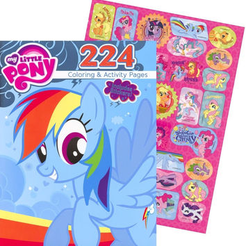 My Little Pony Giant Coloring and Activity Book with Stickers (224 Pages)