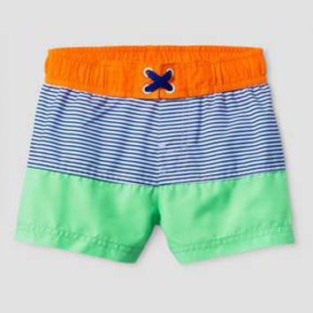 Baby Boys' Stripe Swim Trunks - Cat & Jack™ Green