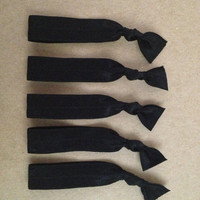 Essentials Collection: Black Set of 5 Softies hair ties by Opus 19