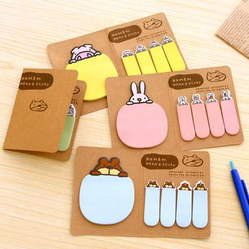 Cute Animal Memo Pads Sticky Notes Post It Notes Scrapbooking Diary Planner Stickers Office Stationery and School Supplies