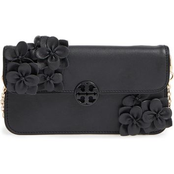 Tory Burch Flower Leather Envelope Clutch | Nordstrom