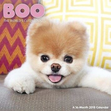 Boo Wall Calendar, Assorted Dogs by ACCO Brands