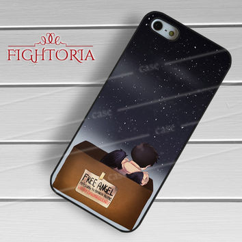 Cas castiel supernatural cute lonely angel -ssrh for iPhone 4/4S/5/5S/5C/6/6+,samsung S3/S4/S5/S6 Regular/S6 Edge,samsung note 3/4