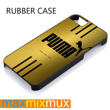 Puma Gold iPhone 4/4S, 5/5S, 5C, 6/6 Plus Series Rubber Case