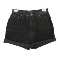 90's High Rise Denim Shorts size  XS/S  26 by NightAfterNight