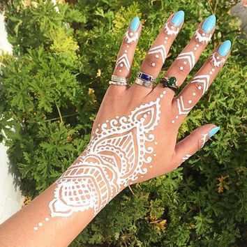 Natural & White Henna Cone Bumper Pack