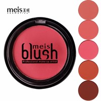 MEIS Brand 1 Color Baked Blush Makeup Cosmetic Natural Baked Blusher Powder Palette Charming Cheek Color Make Up Face Blush