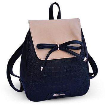 New Hot Leather Backpack Famous Brands Backpacks For Teenage Girls Good Quality Women Backpack School Backpack  WZ106