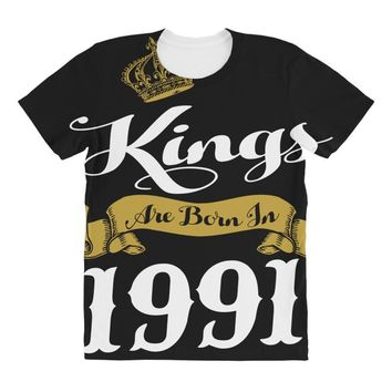 kings are born in 1991 All Over Women's T-shirt