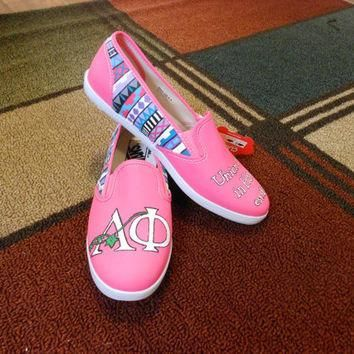 Sorority Custom Shoes/Vans by PaintItBetter on Etsy