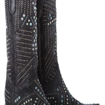Kippys by Lane Black and Turquoise Cubic Enigma Boots~ Made to Order