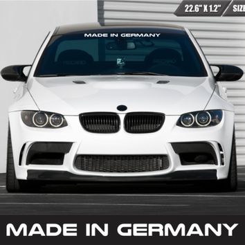 Made In Germany Windshield Sticker Vinyl Car Window Sticker Fits BMW M & Benz