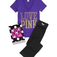 V-Neck Tee Bootcut Yoga Pant Gift Set - Victorias Secret PINK - Victoria's Secret