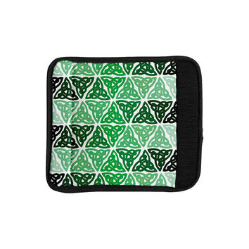 """KESS Original """"Celtic Knot Green"""" Forest Mint Luggage Handle Wrap"""
