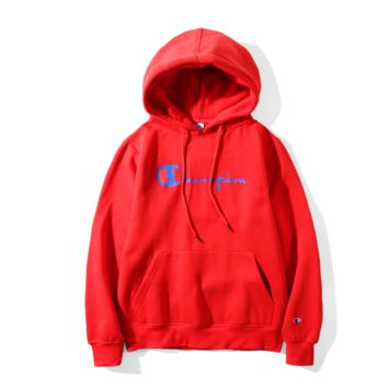 Champion Hooded sweater couple models plus cashmere hooded sweater simple printing Ban suit Red
