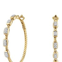 Women's David Yurman 'Confetti' Hoop Earrings with Diamonds in Gold