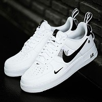 NIKE AIR FORCE 1 AF1 OW 2018 new casual simple versatile shoes white