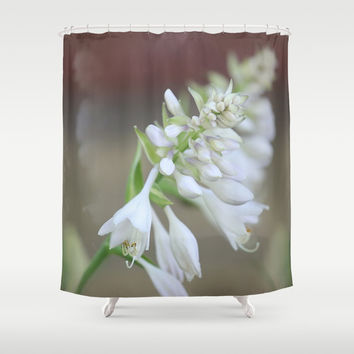 Foxglove Penstemon Shower Curtain by Theresa Campbell D'August Art