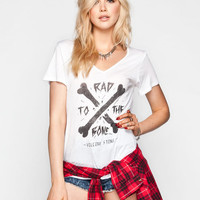Volcom Rad Bones Womens Tee White  In Sizes