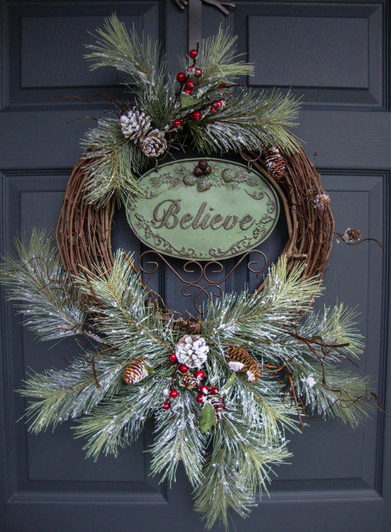 Rustic Christmas Wreaths Outdoor From Homehearthgarden