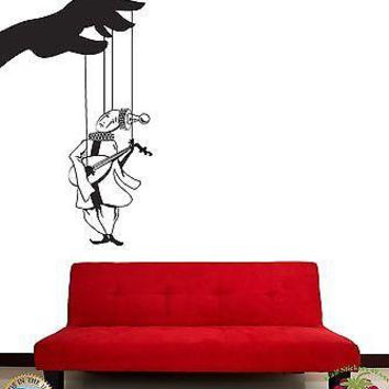 Wall Stickers Vinyl Decal Marionette Puppet Theatre Piero Unique Gift z1069