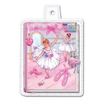 Hot Focus Ballerina Beauties Diary with Lock & Key