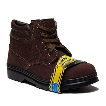 New Men's 2085-1 Safety Steel Toe Lace Up Suede Work Boots