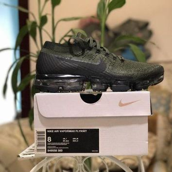 DCCK Nike Air Vapormax Flyknit 849558-300 Dark Green Color US7-11