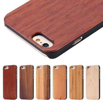 Natural Bamboo Maple Rosewood Wooden Mobile Phone Case For iPhone 6 4.7 / 6S Plus
