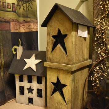Primitive Birdhouse Toilet Paper Holder/Dispenser