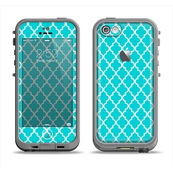 The Morocan Teal Pattern Apple iPhone 5c LifeProof Fre Case Skin Set