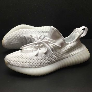 Adidas Yeezy Boost 350 V2 All White 2018 Women Men Fashion Trending Running Sports Shoes Sneakers