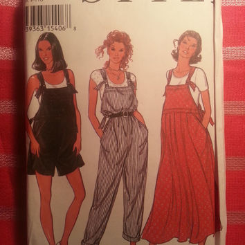 Uncut 1994 Style Sewing Pattern, 2452! Small/Medium/Large/XL/XXL/Women's/Misses/Dungarees/Overall/Coverall/Jumper Dresses/Shorts Jumper