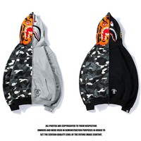 Bape Shark Hoodies Zippers Men And Women Casual Jacket Coat