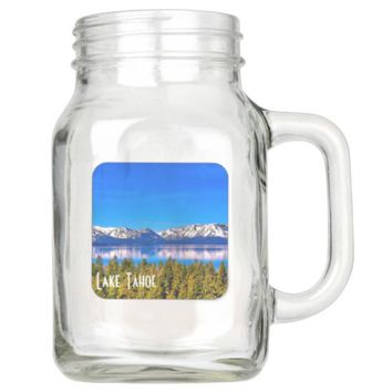 20 oz LAKE TAHOE MASON JAR