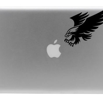 Eagle After The Apple Macbook Vinyl Decal by BengalWorks on Etsy