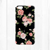 iPhone 6 Case - Phone Case - Floral iPhone 6 Case - Floral iPhone Case - iPhone 5 Case - Floral iPhone 5c Case - Coral Peach Pink Black