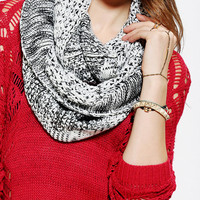 Variegated Knit Eternity Scarf  - Urban Outfitters