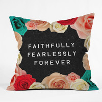 """Wesley Bird """"Forever"""" Throw Pillow"""