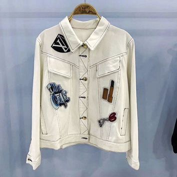 DCCKW2M LV: Women Denim Cardigan Jacket Coat