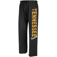 Tennessee Volunteers Ladies Black Cozy Boyfriend Fleece Pants