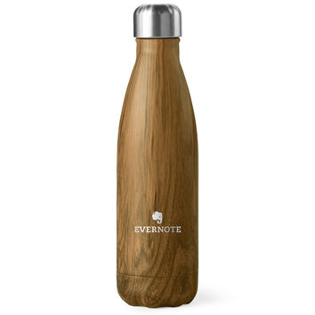 S'well Evernote Wood Walnut Teakwood 17oz medium water bottle stainless steel thermo Wood Collection