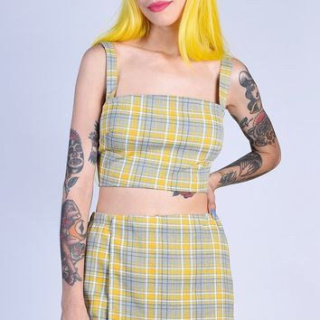 Nelly Plaid Separates - Yellow