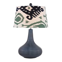 D2520 Penarth Ceramic Table Lamp in Navy Blue - Free Shipping!