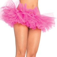 Neon Pink Organza TuTu : High Quality Rave TuTus and Outfits
