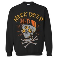 Skulls Black Crewneck : HLR0 : MerchNOW - Your Favorite Band Merch, Music and More