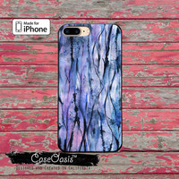 Purple Blue Watercolor Streaks Art Tumblr Cute iPhone 5 5s 5c Case and iPhone 6 and 6 Plus 6s and 6s Plus and iPhone SE iPhone 7 Plus Case
