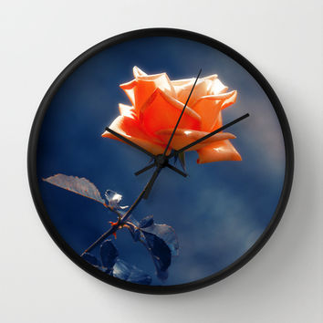 Rose Flower Wall Clock by Cinema4design
